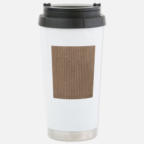 Brown corrugated cardbo Stainless Steel Travel Mug