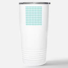 Mint houndstooth patter Travel Mug