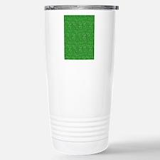 Green Swirling Paisley  Travel Mug