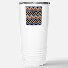 Beige Brown blue black  Travel Mug