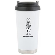 Personalized Super Stickman Travel Mug