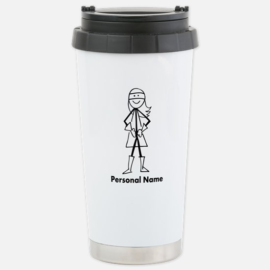 Personalized Super Girl Stainless Steel Travel Mug
