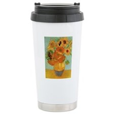 Vase with 12 Sunflowers Travel Mug
