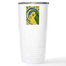 Pixel Flower Travel Coffee Mug