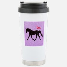 Horse Love and Hearts Stainless Steel Travel Mug