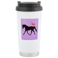 Horse Love and Hearts Travel Mug