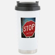 Stop Snitchin Stainless Steel Travel Mug