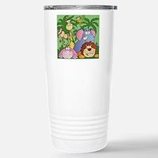 cute cartoon jungle ani Stainless Steel Travel Mug