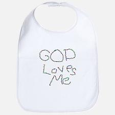 God Loves Me Bib