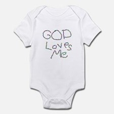 God Loves Me Infant Bodysuit