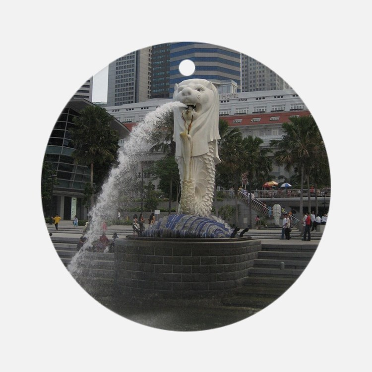 The Singapore Merlion Ornament (Round)