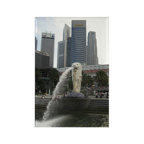 The Singapore Merlion Rectangle Magnet