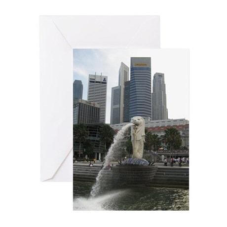The Singapore Merlion Greeting Cards (Pk of 10