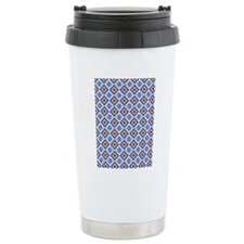 Blue and Brown Aztec Pa Travel Mug