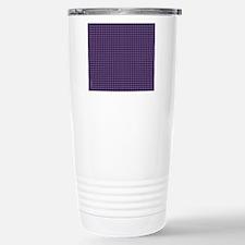 Houndstooth  Purple Travel Mug