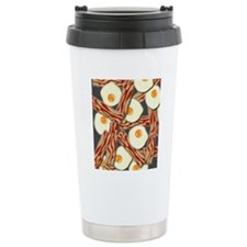 Bacon and Eggs Pattern Travel Coffee Mug