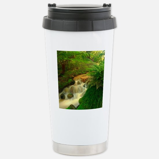 Stream in the forest Stainless Steel Travel Mug