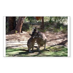 Kangaroo Mum Rectangle Decal