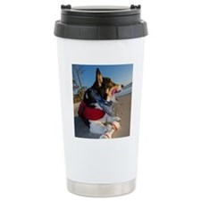 Corgi Licking his Chops Travel Mug