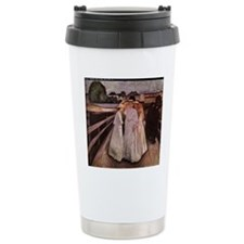 Ladies on a Bridge Travel Mug