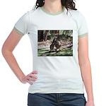 kangaroo mum tickles me Jr. Ringer T-Shirt