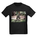 kangaroo mum tickles me Kids Dark T-Shirt