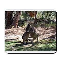 kangaroo mum tickles me Mousepad