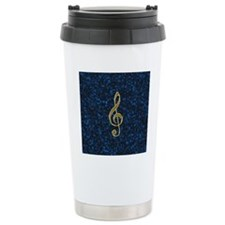 Golden treble clef Travel Mug