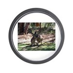 kangaroo mum tickles me Wall Clock