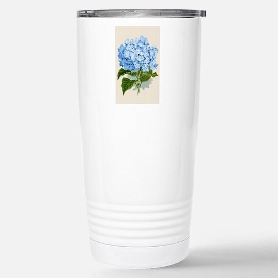 Blue hydrangea flowers Stainless Steel Travel Mug