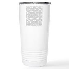 Grey honeycomb pattern Travel Mug