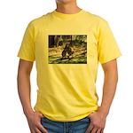 kangaroo mum tickles me Yellow T-Shirt