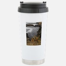 Seal Rock Coastal Scene Stainless Steel Travel Mug