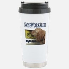 Golden Retriever Nose W Stainless Steel Travel Mug