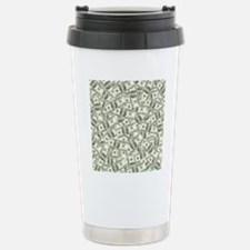 100 Dollar Bill Pattern Travel Mug