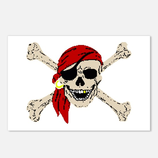 Pirate Skull Postcards (Package of 8)