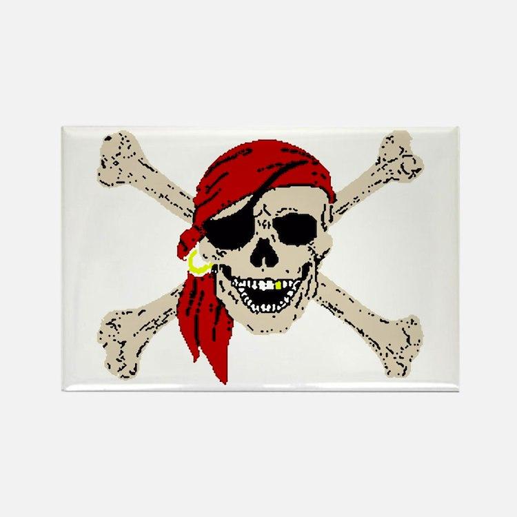Pirate Skull Rectangle Magnet