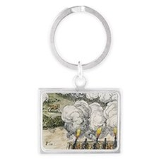 Siege cannons in the 30 Years W Landscape Keychain