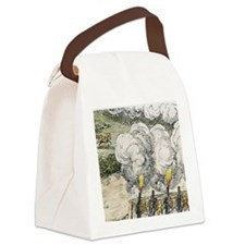 Siege cannons in the 30 Years War Canvas Lunch Bag