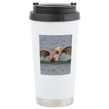 Funny Grumpy Pelican Travel Mug