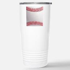 Baseball ball close-up Stainless Steel Travel Mug