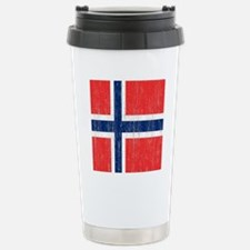 Vintage Norway Flag Stainless Steel Travel Mug
