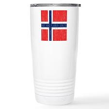 Vintage Norway Flag Thermos Mug