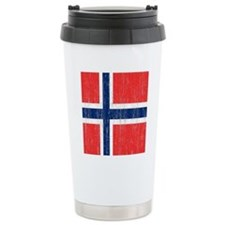 Vintage Norway Flag Travel Mug