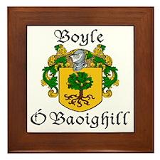Boyle in Irish/English Framed Tile