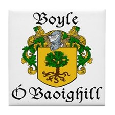 Boyle in Irish/English Tile Coaster