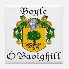 Boyle in Irish/English Tile Coaster