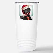Newfie in Snow blanket Stainless Steel Travel Mug