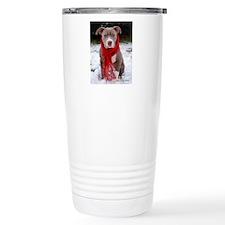 Holiday Pit Bull with R Travel Mug