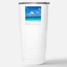 Tropical Beach View Cap Stainless Steel Travel Mug